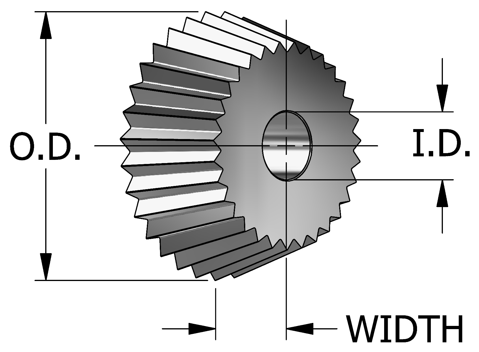 Conical Knurling Wheels