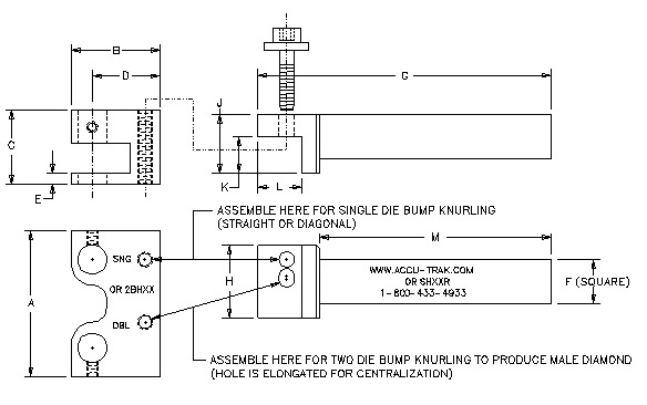Single or Two Die Modular Bump Holders - Metric